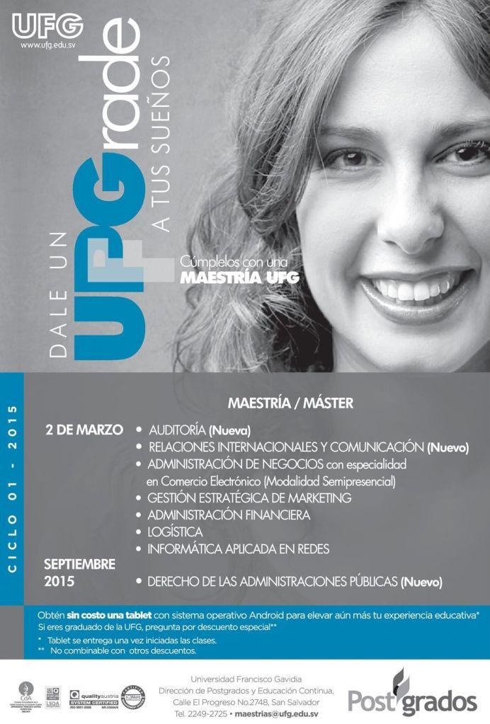 postgrados 2015 universidad francisco gavidia