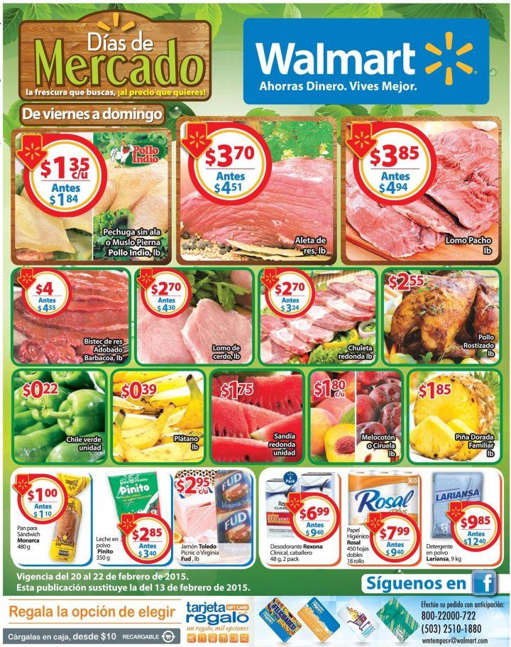 precios bajos en tus compras de fin de semana WALMART - 20feb15