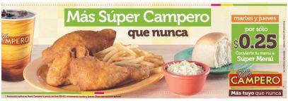 restaurante POLLO campero promocion martes y jueves - 17feb15