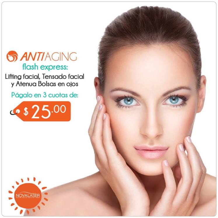ANTI AGING flash express solution Rostro rejuvenecido en VErano