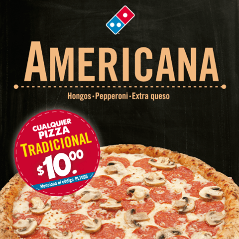 American traditional PIZZA dominos