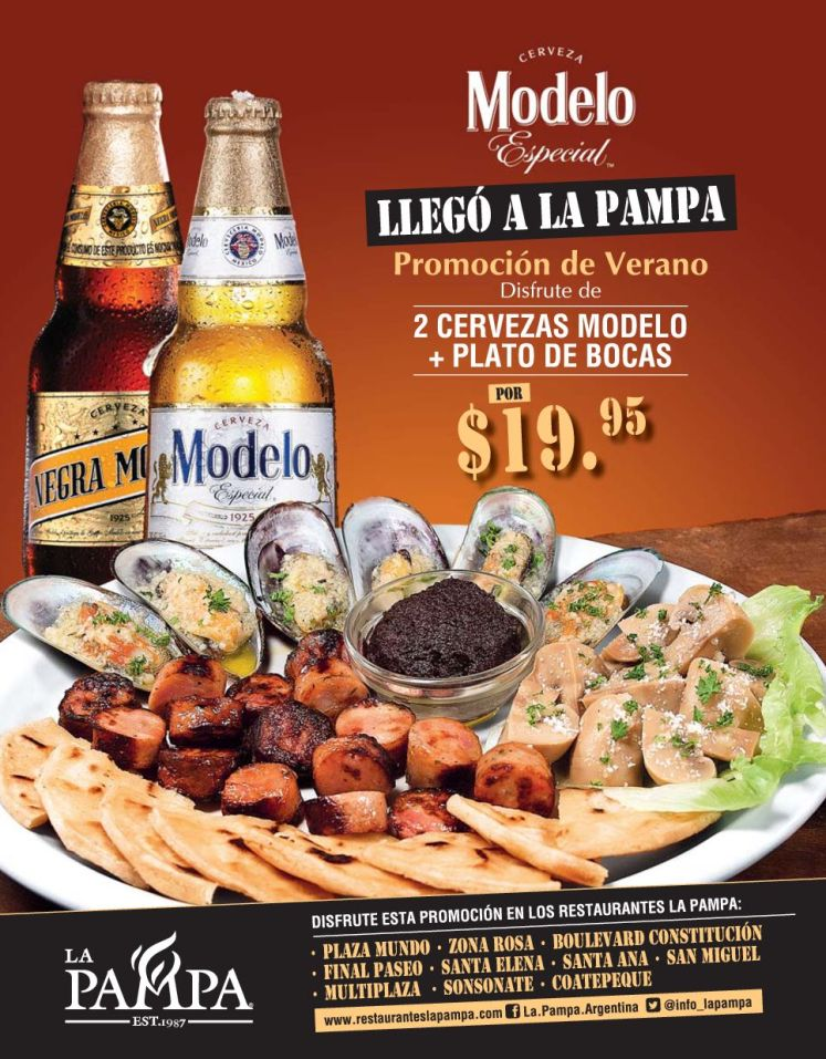 Cerveza MODELO especial llego a la PAMPA restaurante