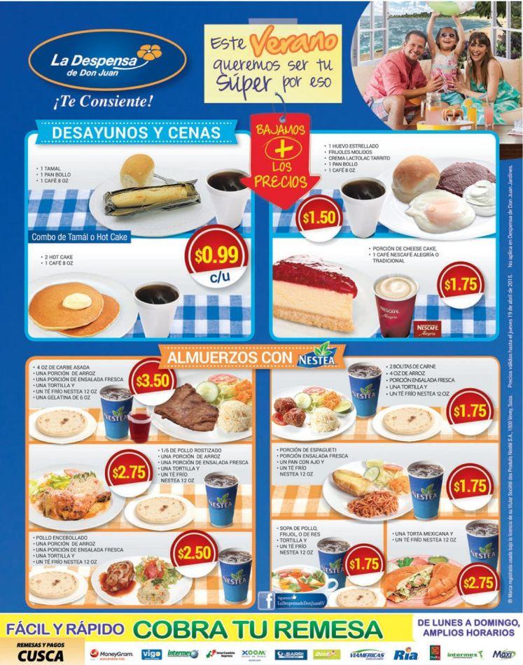 Comidas y servicios de cafeteria LA DESPENSA DE DON JUAN - 21mar15