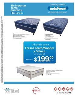 Fresh BED foam wonder and deluxe - 13mar15