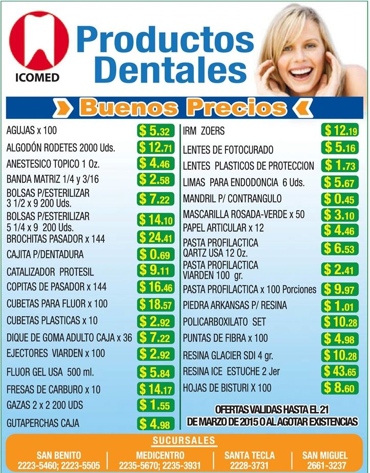 ICOMED producto dentales a buen precio - 09mar15