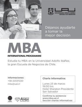 International programme Escuela de negocios de CHILE