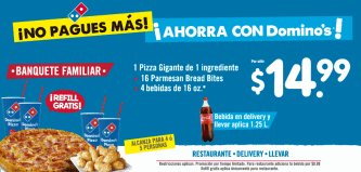NO pagues mas COMBO familiar pizza dominos