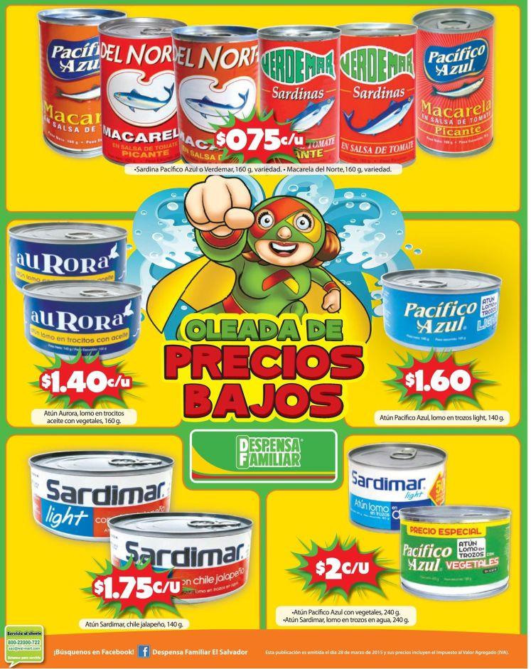 Oleadas de precios bajos en sardinas y atun - 28mar15