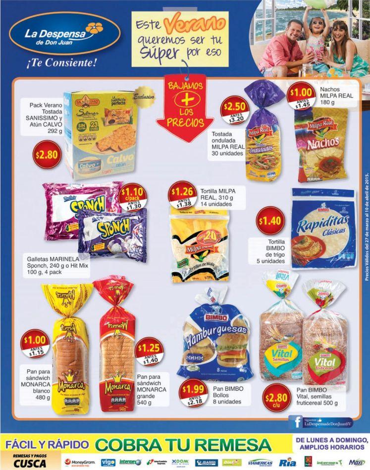 Pan de Caja NACHOS rapiditas Pan de hamburguesas HOT DOG ofertas - 27mar15