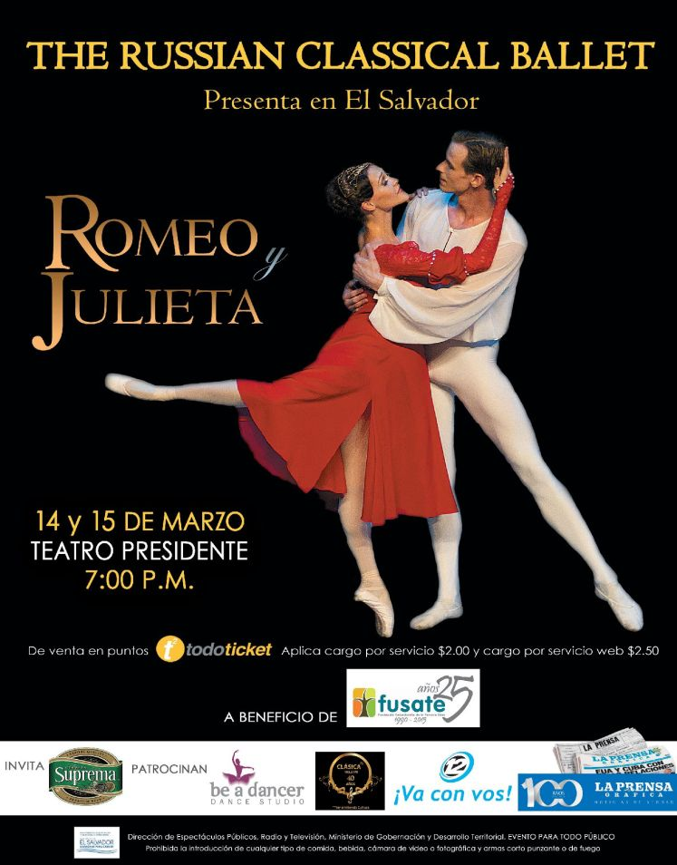 ROMERO and JULIET the russian classical BALLET