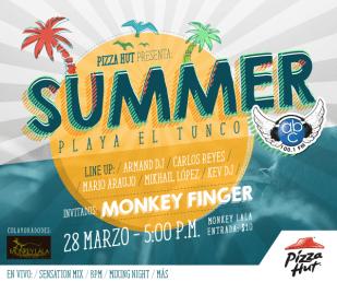SUMMER fest 2015 PLaya el tunco MONKEY FINGER