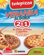 TELEPIIZA veranea al doble 2x1 en tus pizza favoritas