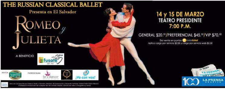 Teatro presdente PRESENTACION romeo y julieta balet clasico