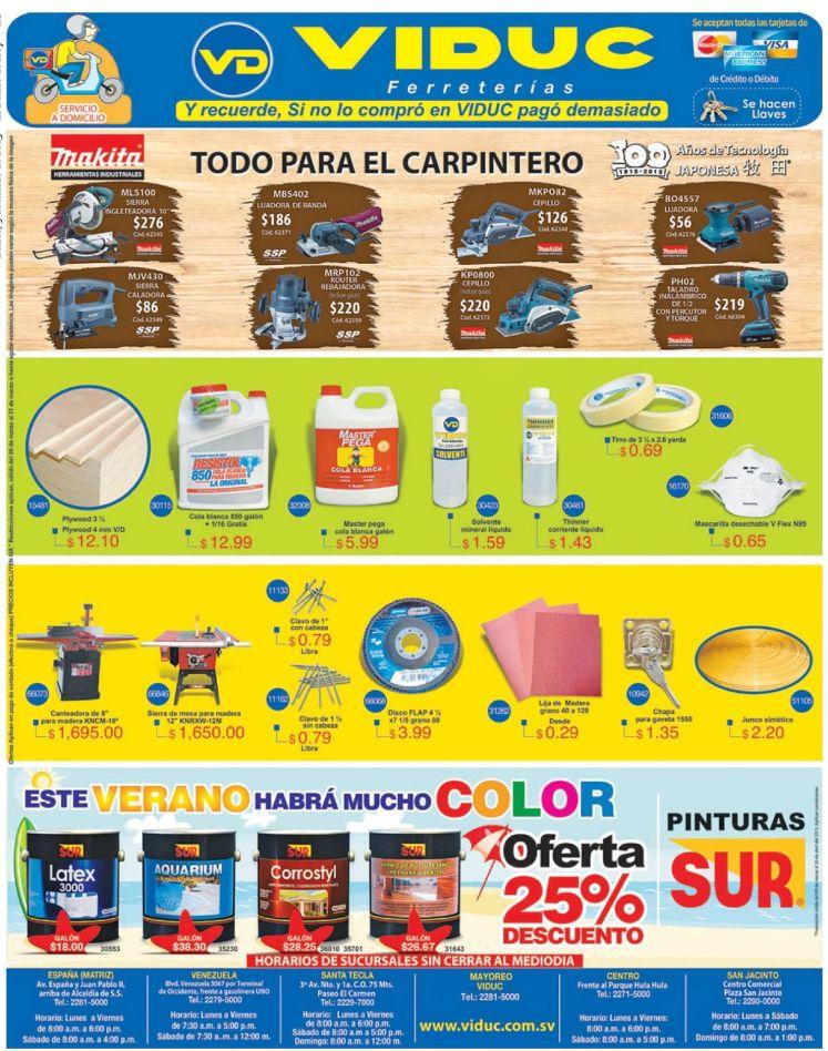 Todo para los trabajos de carpinteria VidUC - 09mar15