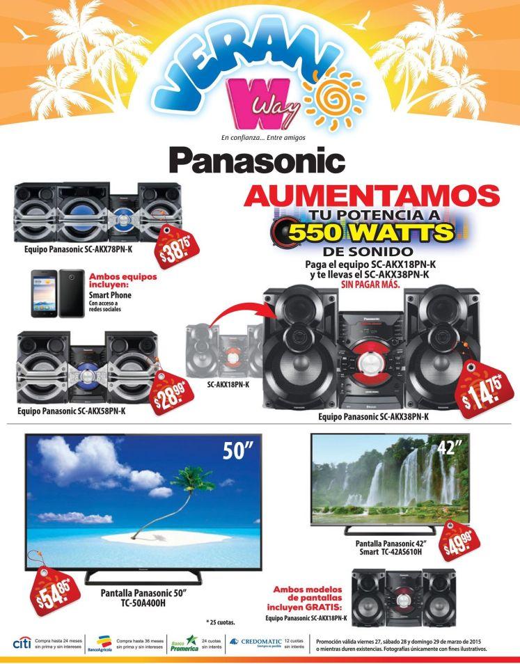 VERANO way con ofertas en PANASONIC audio y video - 27mar15