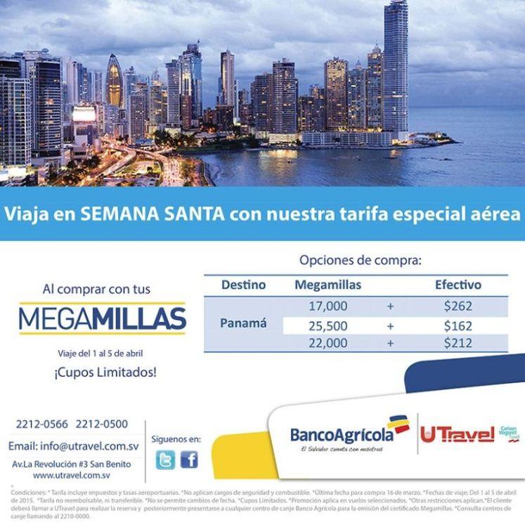 Viaja a Semana Santa contarifa especial a PANAMA CITY uTravel