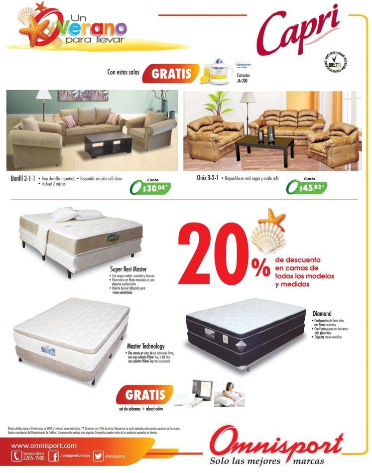 camas CAPRI con 20 OFF en almacenes OMNISPORT - 14mar15