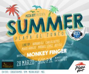 summer party 2015 playa el tunco monkey finger