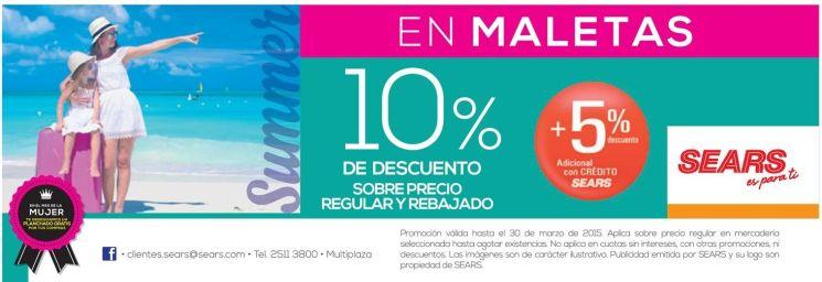 summer shopping discount en maletas SEARS - 21mar15