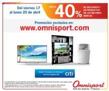 40 por ciento DESCUENTO en compras online en tienda OMNISPORT.com - 17abr15
