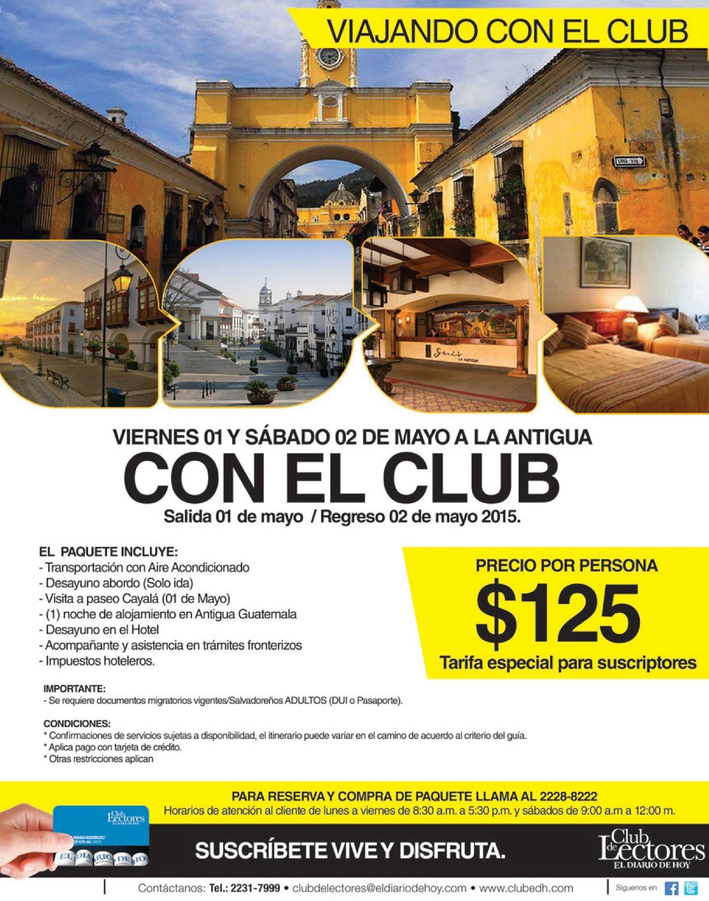 Antigua Guatemala con el CLUB de lectores EDH - 18abr15