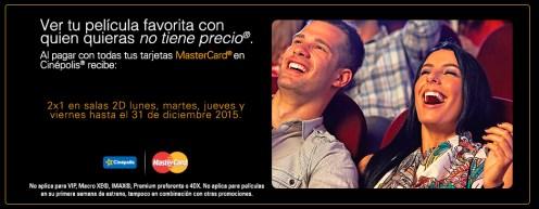 Beneficios tarjeta de credito MASTERCAD en cinepolis el salvador