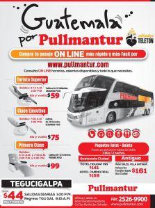 Como viajar comodos y seguro a GUATEMALA buses pullmantur