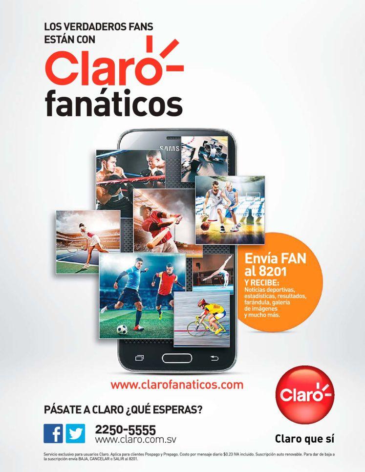 Contenido multimedia deportivo CLARO FANATICOS