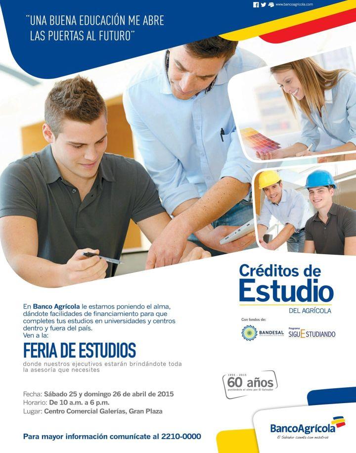 Credito para estudios en el pais y en el extrangero - 25abr15