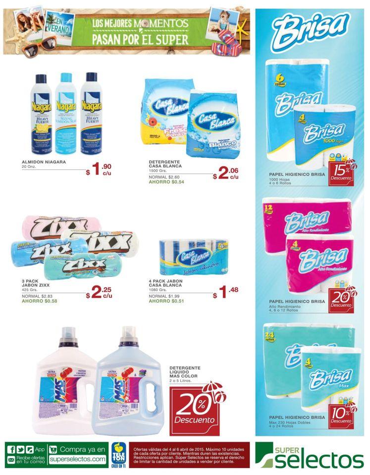 Descuentos en lejia papel higienico detergentes - 03abr15