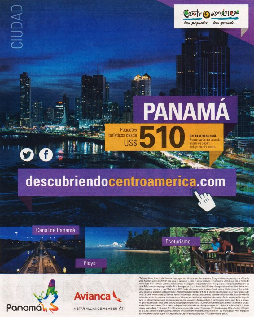 Eco Turismo PLAYA Panama descubre centroamerica con AVIANCA