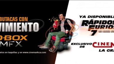 Enjoy the movie Rapidos y Furiosos nueva butacas con movimiento D-BOX mfx