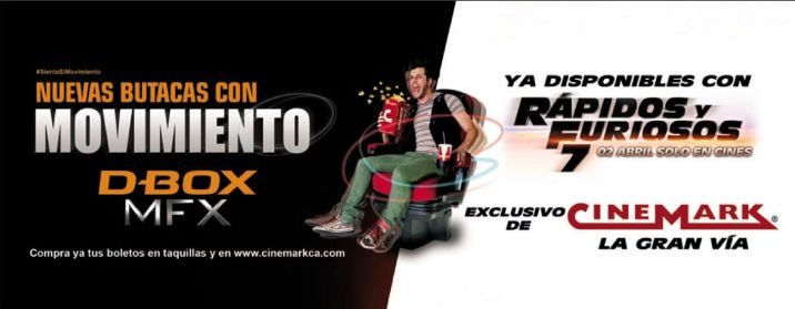 Enjoy the movie Rapidos y Furiosos nueva butacas con movimiento D-BOX mfx