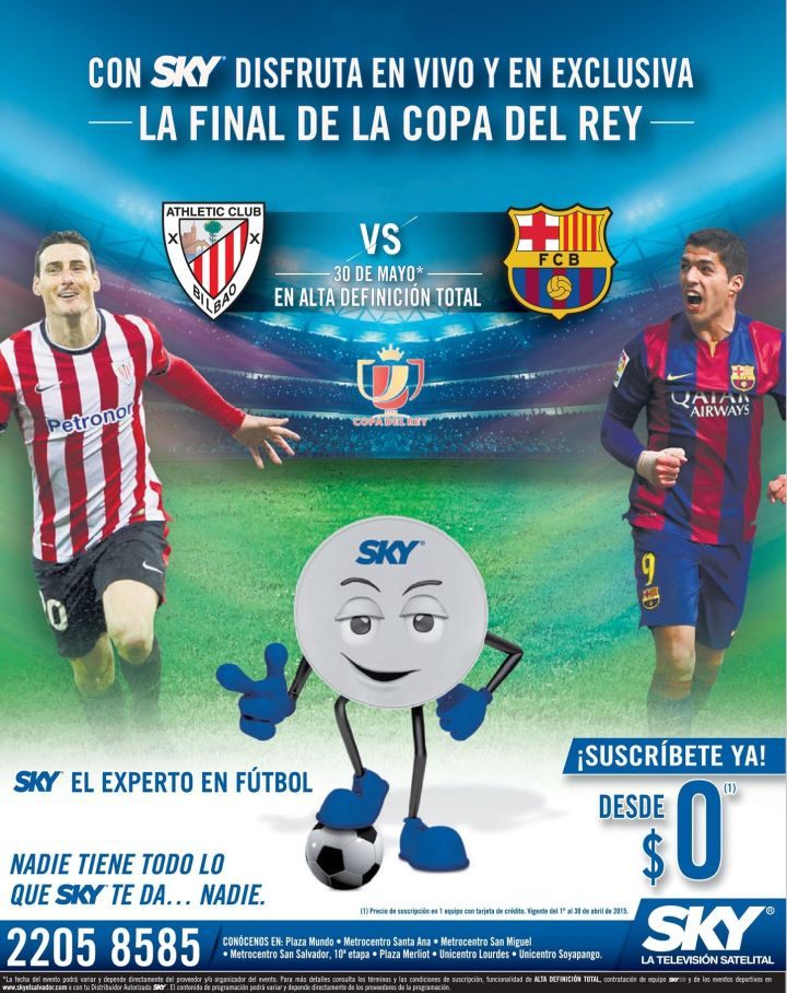 FUTBOL en vivo via satellite SKY