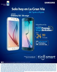HOY compra tu nuevo samsung GALAXY S6 en TIGO la gran via - 23abr15