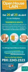 LAIN open house GRATIS evaluancion medio nutricional y mas