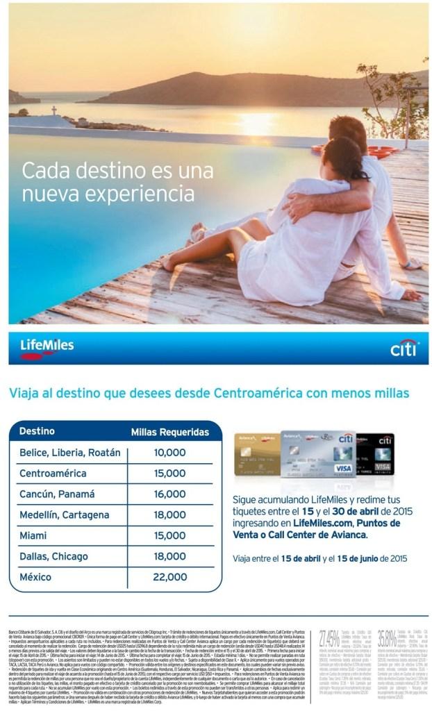 LIFE MILES travel program centroamerica