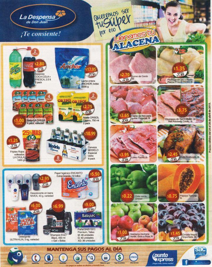Mantenga llena su alacena con las ofertas de la despensa - 24abr15