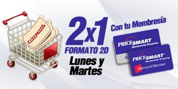 Membership CARD PRICESMART el salvador 2x1 cinemark movies