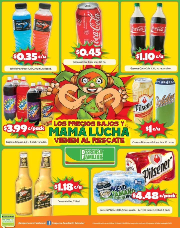 Ofertas de bebidas refrescos jugos cervezas DESPENSA FAMILIAR - 25abr15