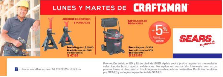 Ofertas en productos de ferreteria CRAFTSMAN - 20abr15