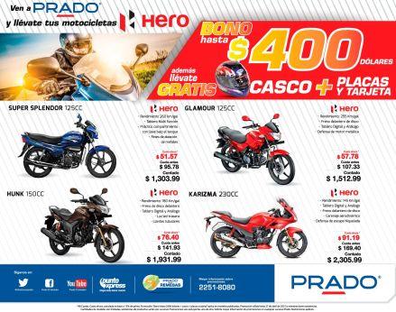 PRADO BONO por 400 dolares en la compra de tu MOTO HERO