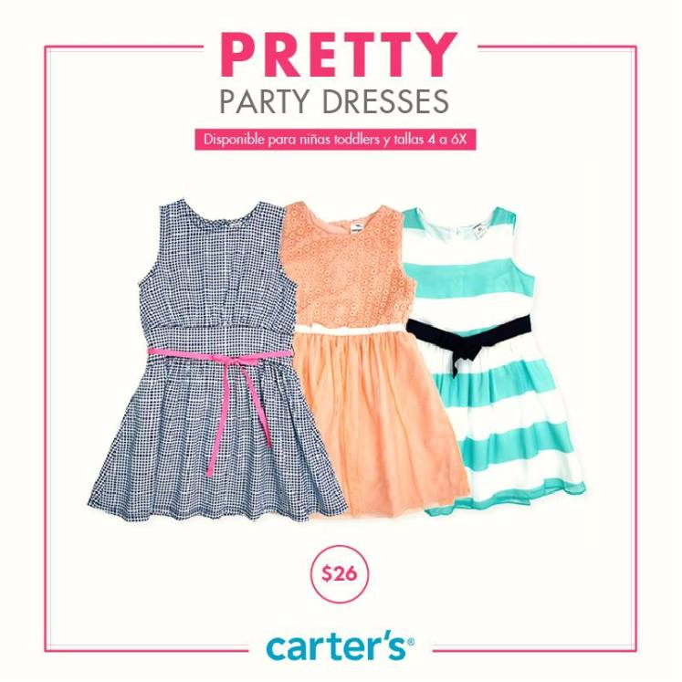PRETTY party dress by CARTERS outfit for KIDS