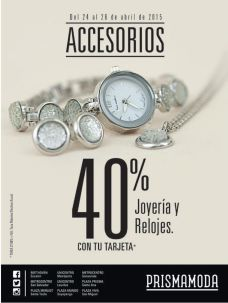 Prisma Moda 40 percent OFF Jelwelry and watches - 24abr15