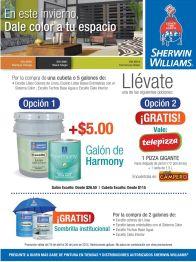 Promociones pr la compra de tus pinturas SHERWIN-WILLIAMS - 20abr15