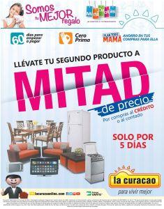 Promociones segundo articulo a MITAD de PRECIO de la CURACAO - 29abr15