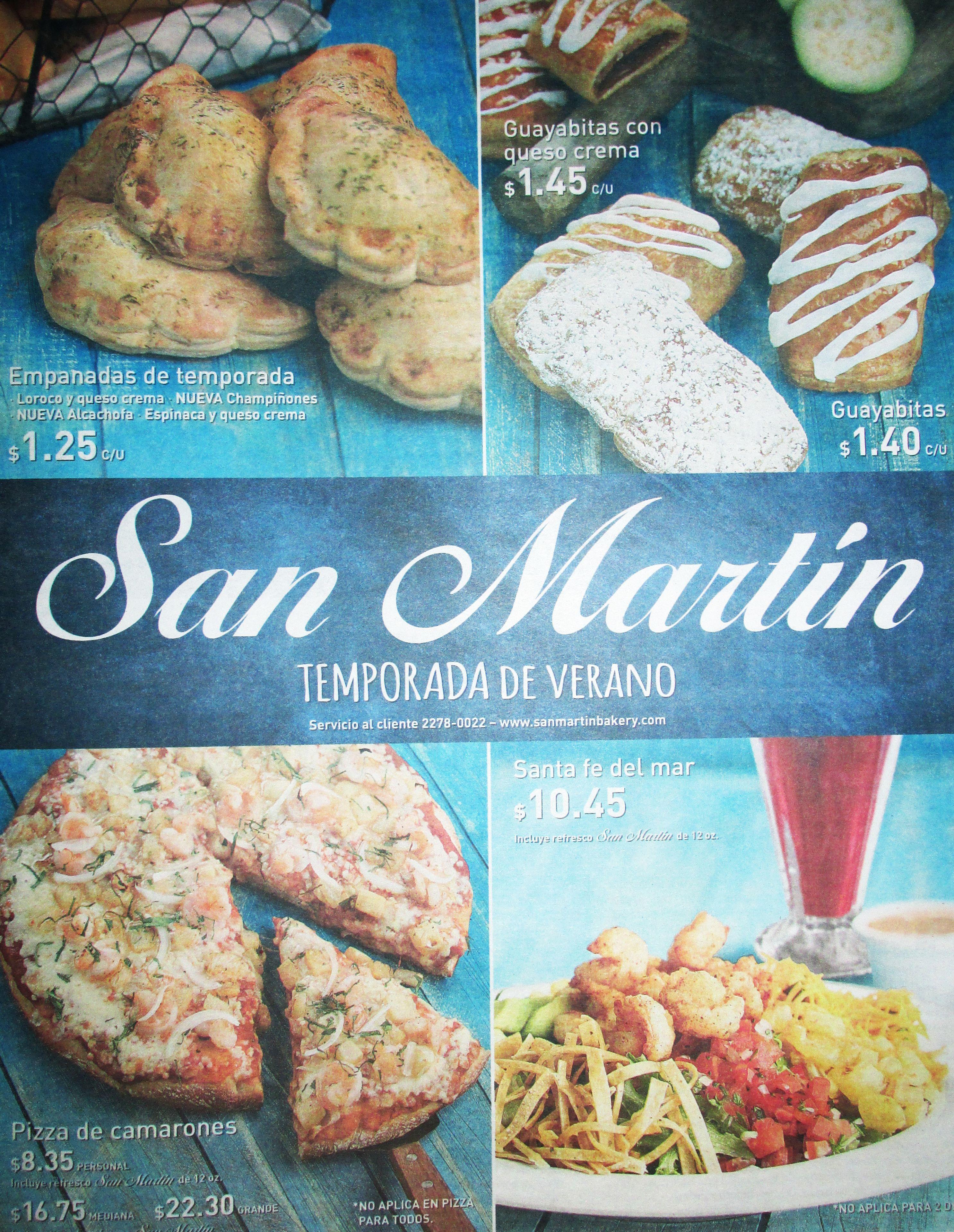 Restaurante SAN MARTIN el salvador delicias en su menu de verano 2015