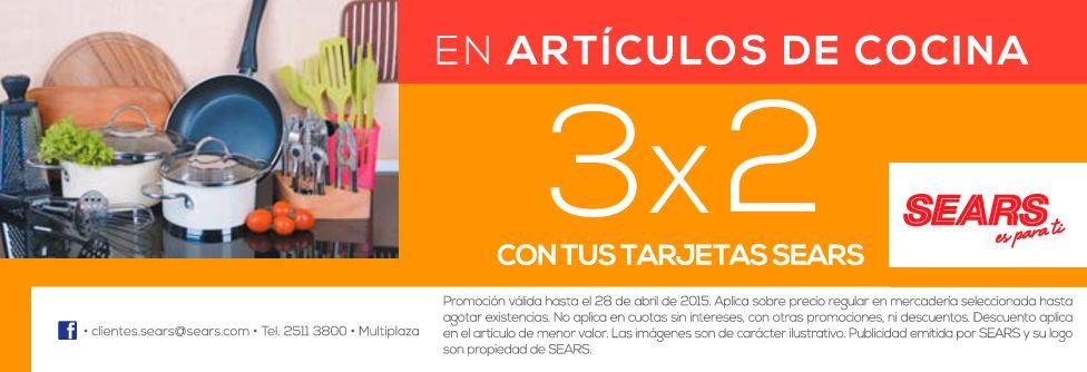 SEARS 3x2 en articulos de cocina - 23abr15