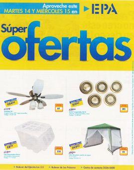 SUPER OFERTAS en ferreteria EPA ventiladores luces empotrables caja rimax - 14abr15