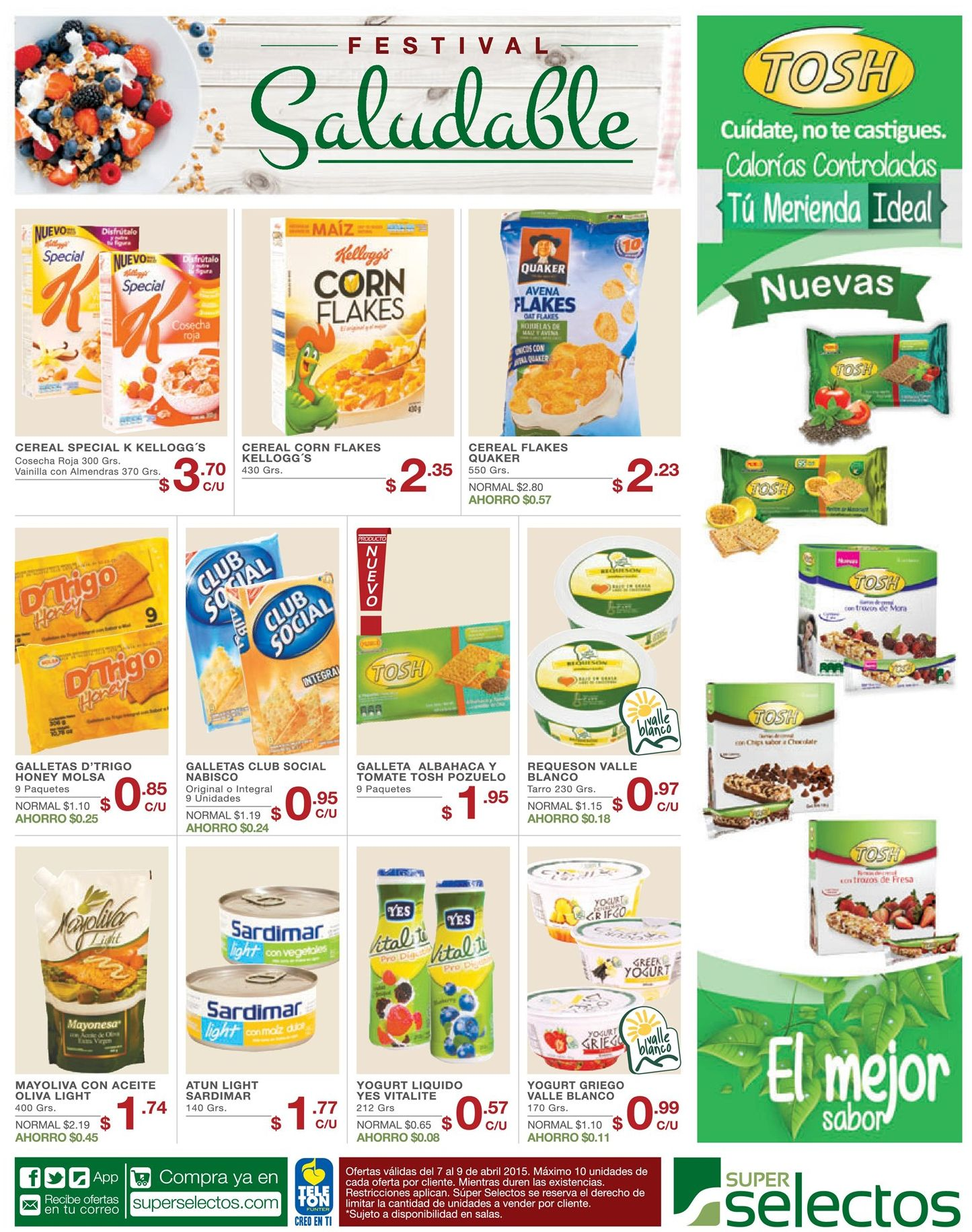 Super Selectos te presenta su linea de productos saludables CONOCELOS